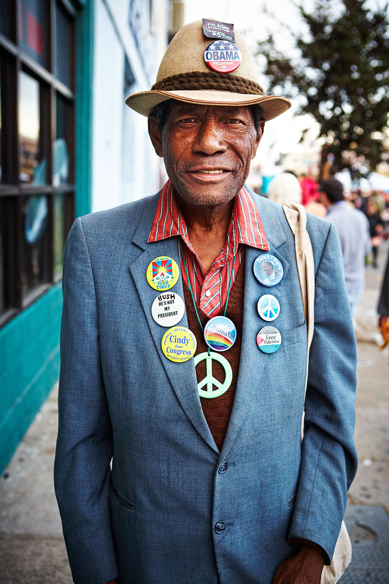 Folsom Street Fair : Button Man