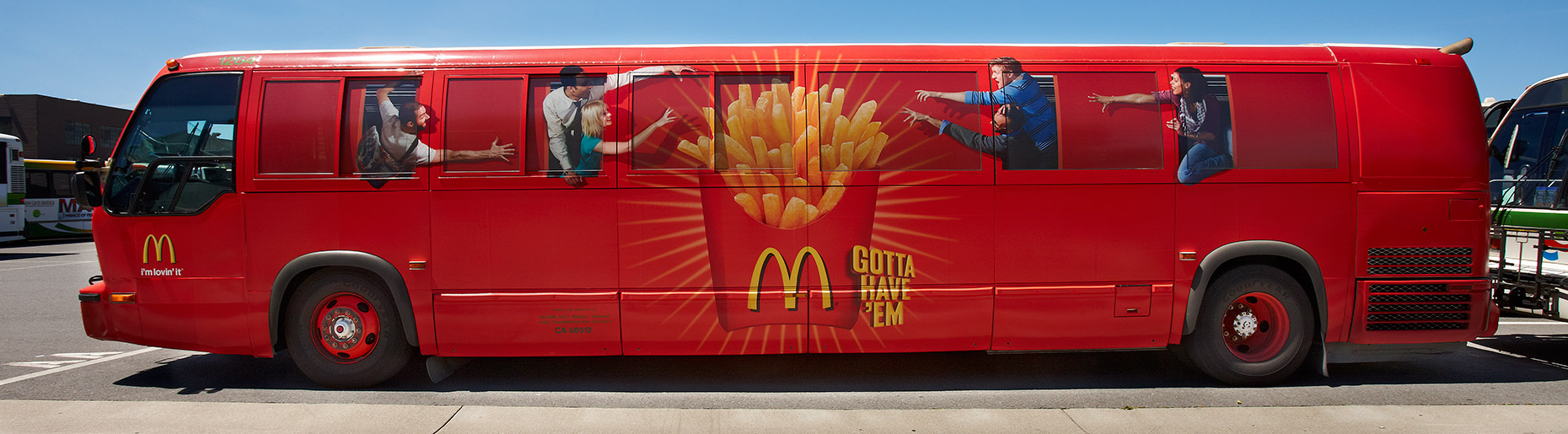 McDonalds Bus Wrap